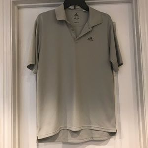 Adidas Men's Medium Collared Grey Shirt